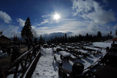 kalnai,saulė,vaizdas,kraštovaizdis,sniegas,žiemą kalnuose,Lenkija,gamta,šaltis,saulėtas,kalnų galia,kalnas,turizmas,žiema,tatry,Vaizdas iš viršaus