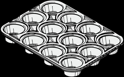 muffin pan,pan,alavas,dešimtys,kepimo,virimo,virtuvė,vidaus,cupcake,dėklas,Paruošimas,nemokama vektorinė grafika