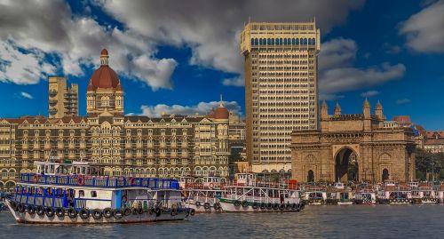 Mumbajus, Vartai Į Indiją, Indija, Laivas, Laivai, Jūra, Uostas, Architektūra, Dangus, Debesys, Hdr