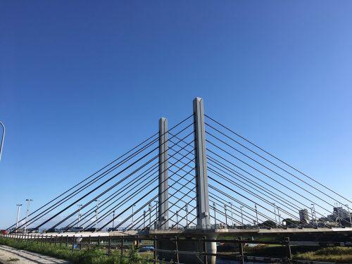Munich tiltas,priekinis,giedras dangus,trikampis
