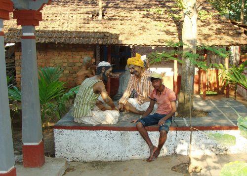 muziejus,antropologija,molio modeliai,kaimo gyvenimas,Karnataka,Indija