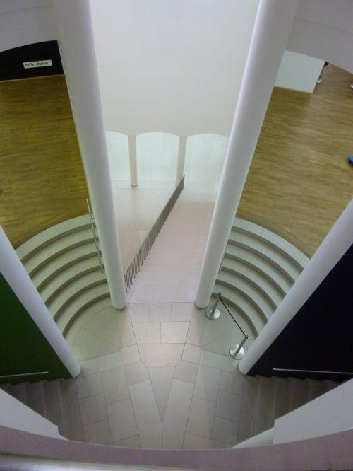 muziejus,architektūra,pastatai,laiptai,perspektyva,moderni architektūra,paroda,struktūra,šiuolaikiška