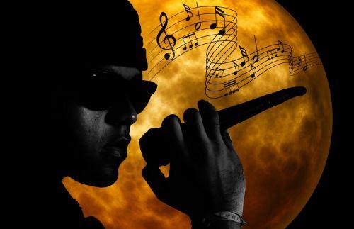 muzikantas,dainininkė,muzika,menininkai,mikrofonas,pramogos,mėnulis,mėnulio šviesa,daina,dainuoti,dainuoti,vyras