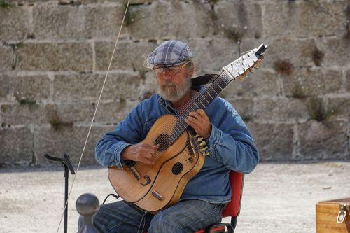 gitaristas, gitara, muzikantas, muzika, charakteris, vyras, gatvės muzikantas