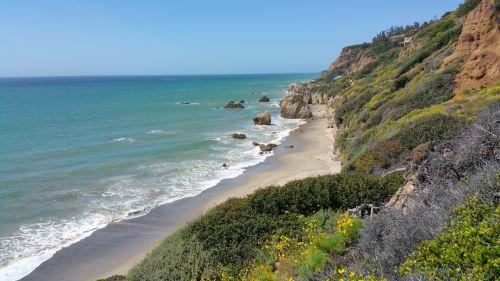 Kalifornija & nbsp, paplūdimys, mustangas paplūdimys, akmenys, smėlis, vandenynas, jūrų, vanduo, Kalifornija, kelionė, plakatas, vaizdas, turkis & nbsp, vanduo, naršyti, bangos, Mustango paplūdimys, Kalifornija