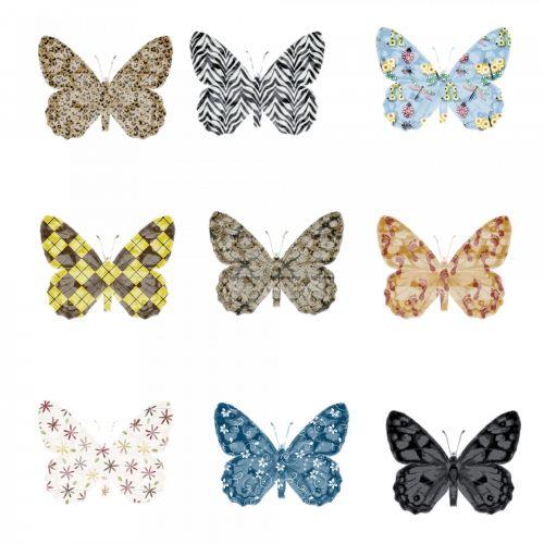 drugeliai, nustatyti, siluetas, tekstūra, balta, fonas, mano drugeliai