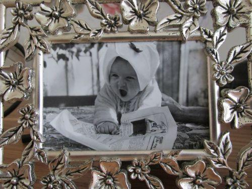 šeima, nuotrauka, mano, dukra, keturiasdešimt, metai, prieš, rėmas, barokas, sidabras, Mano dukra