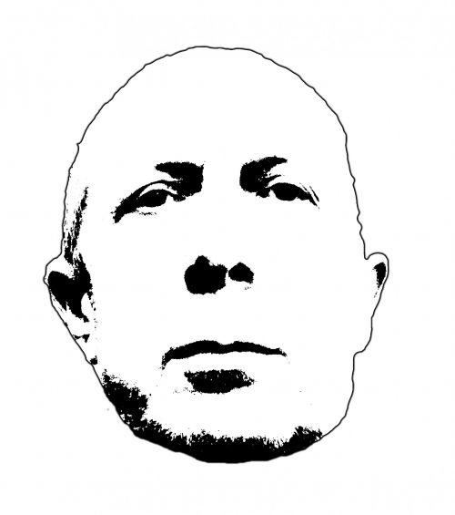 veidas, vyras, siluetas, kontūrai, paprastas, juoda, balta, izoliuotas, Mano veidas