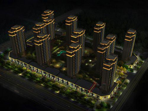 mano apdaila,Taizhou bendruomenė,bendruomenė,efekto paveikslėlis,pastato poveikis,miestas,3d,vizualizacija,naktis