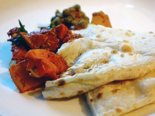 naan, khamiri, duona, užkandis, Indijos, masala, vištiena, aštrus, mėsa