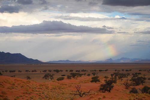 namib, dykuma, namib kraštas, vaivorykštė, šviesa, afrika, Namibija