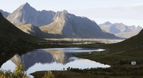 Natūralus, Ežerai, Kraštovaizdis, Veidrodis, Norvegija, Lofoten, Tyla, Veidrodis, Pelkė, Vaizdas, Ro