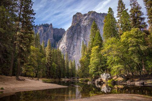 Gamta, Fonas, Kalnas, Riverside, Upė, Gamta, Fonas, Žalias, Medžiai, Laukinė Gamta, Gražus