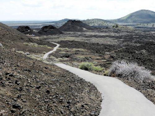 gamta,lava,mėnulio krateriai,smėlis,usa,Nacionalinis parkas