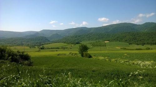 gamta,slėnis,kaimas,Prado