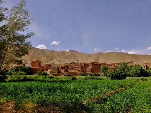 Gamta, Dangus, Kelionė, Kraštovaizdis, Lauke, Marokas, Slėnis, Wadi, Kultūra, Laukai