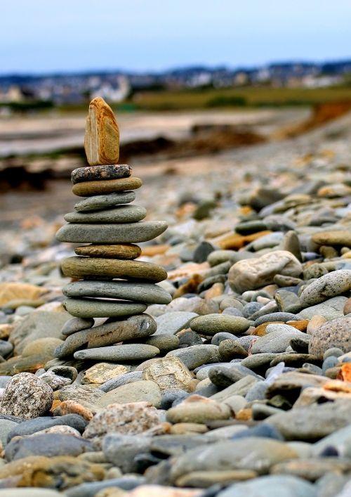 gamta, Rokas, akmuo, vandenys, kelionė, papludimys, kranto, kraštovaizdis, jūra, akmenukas, krūva, balansas, be honoraro mokesčio