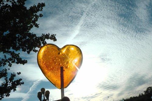 pobūdį, dangus, širdies, Lollipop, saulė