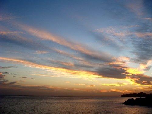 pobūdį, kraštovaizdis, pakrantės, saulėlydžio, Iberijos pietryčius