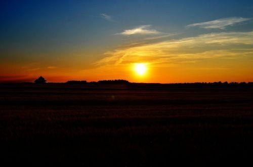 gamta,kraštovaizdis,saulėlydis