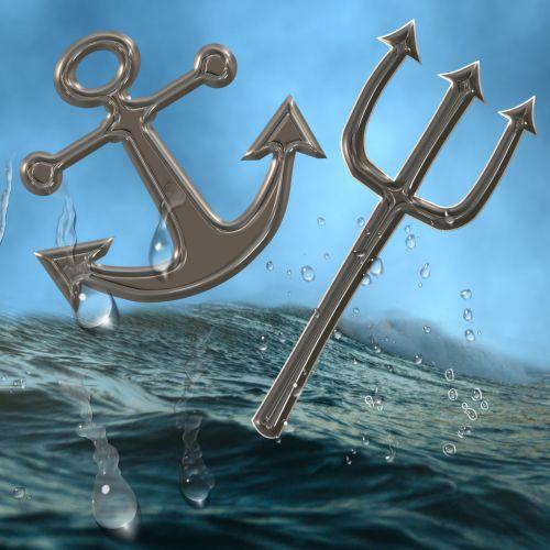 karinis jūrų laivynas, erelis, vanduo, inkaras, laivas, valtis, jūrų, buriavimas, burlaivis, tridentas, šakutė, Halloween, ginklas, velnias, karinis jūrų laivynas