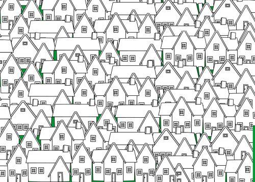 namas, namai, kontūrai, kaimynystėje, miestas, judėti, architektūra, juda, apylinkės kontūrai
