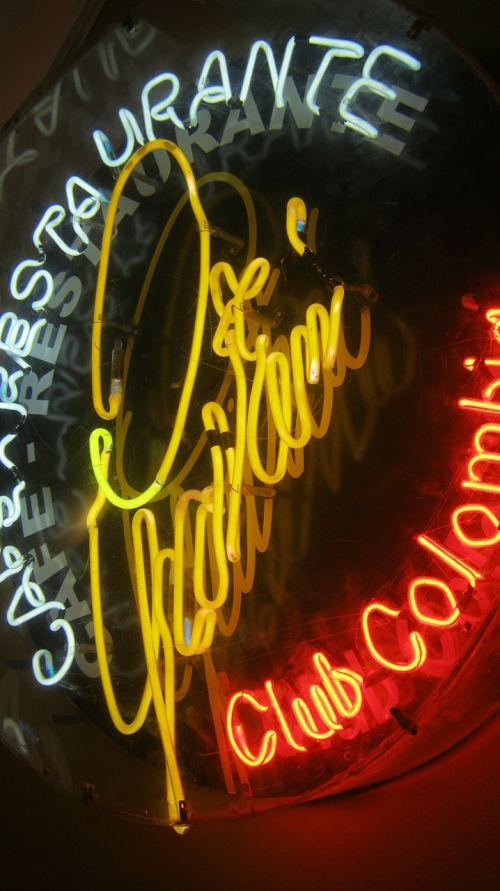 neonas,neoninis ženklas,Reklama,neoninės šviesos