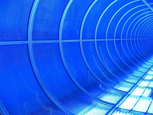 Neoninė šviesa,mėlynas,neonas,neonas mėlynas,tunelis,apšviestas,švytėjimas,fonas