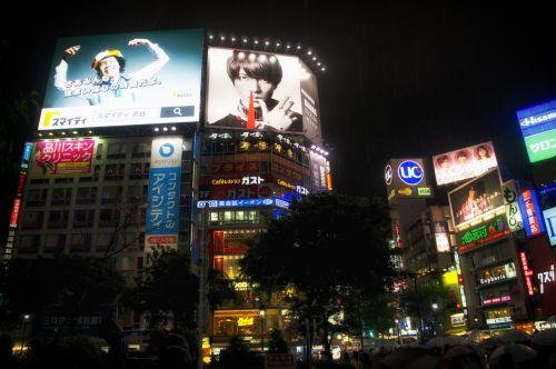neonas, šviesos neonai & nbsp, Tokyo, Japonija, nakties metu, vaizdo įrašai & nbsp, ekranai, skelbimų lentos, neoninės šviesos