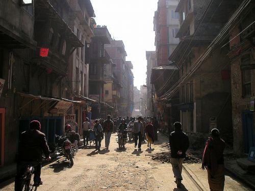 Nepalas,katmandu,kelias,centras,chaotiškas
