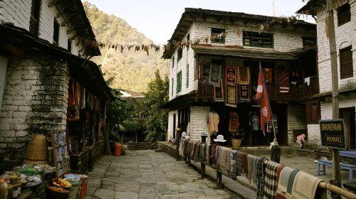 Nepalas,Annapurna,Himalajus,pasivaikščiojimas,žygiai,maldos vėliavos,budistinis,vėliavos,aukštas,kalnas,kalnai,kelionė,Annapurna ratas