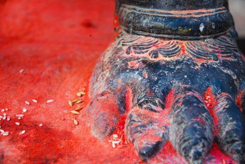 Nepalas,pėdsakas,raudona