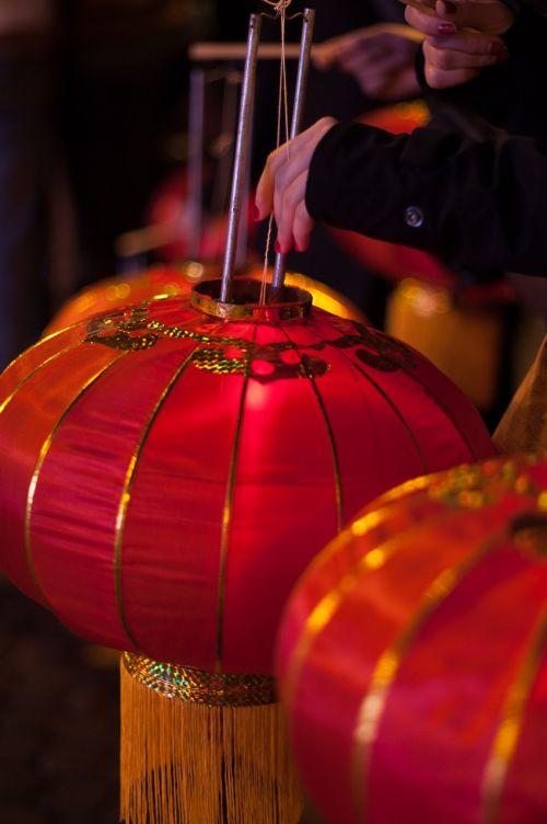 Naujųjų metų vakaras,Kinija,žibintas,raudona,apdaila,asija,ornamentas,šventė,šventė
