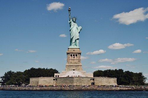 Niujorkas, JAV, Manhattan, Lankytinos vietos, žymus objektas, Lankytinos vietos, laisvės statula, Jungtinės Valstijos