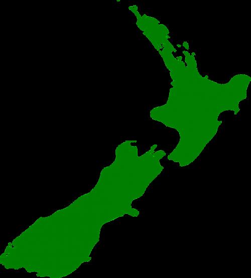 Naujoji Zelandija,sala,šiaurinė sala,pietų sala,žemėlapis,žalias,Šalis,geografija,pietų Ramiojo vandenyno regionas,nemokama vektorinė grafika