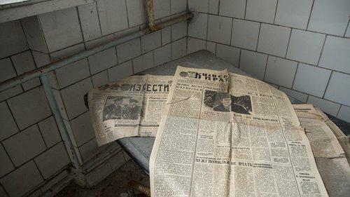 laikraštis, rusų, istorinis, Izvestija, lentelėje, žinios, Pripetė, Ukraina, apleista, atsisakyta, miesto, Explorer, TSRS, skilimas, radioaktyviosios, spinduliuotės, nelaimė, persekiotojas, išskirtinė zona, vaiduoklių miestas, radioaktyvumas
