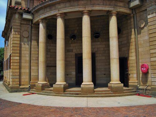 pastatas, bažnyčia, priekinis, įėjimas, stulpai, ng, architektūra, bažnyčia, Pretorija, stulpai