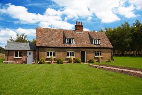 gražus, namelis, turtas, sodas, žolė, namai, namas, iliustracija, gražus, nuosavybė, tradicinis, kaimas, gražus kotedžas