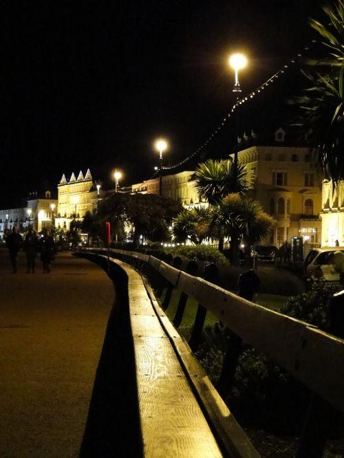 naktis,Promenada,šviesa,Velso,istoriškai,parko suoliukas,vakaras,nuotaika,romantiškas,apšvietimas,atmosfera,atmosfera,atmosfera,tamsa