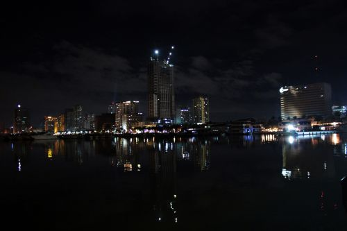 naktis & nbsp, & nbsp, manila & nbsp, įlankoje, naktis, Manila & nbsp, įlankoje, žibintai, pastatai, įlanka, Filipinai, Manila, vakaras, apmąstymai, kelionė, valtis, laivas, vanduo, jūra, naktis Manilos įlankoje 3