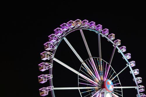 naktinė fotografija,Ferris ratas,laisva rinka,Bremer Freimarkt,naktinė nuotrauka,metų rinka,Bremen