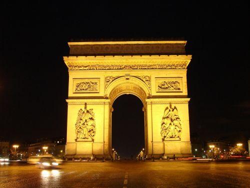 lankas & nbsp, de & nbsp, triomphe, paris, orientyras, paminklas, viešasis & nbsp, domenas, fonas, tapetai, triumfas, vaizdingas, arka, žinomas, pritraukimas, istorinis, kultūra, Champs & nbsp, elysees, alėja, naktis, žibintai, architektūra, france, naktinis vaizdas arko triumfas