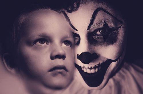 košmaras,išsigandęs,išgąsdinti,Halloween,klounas