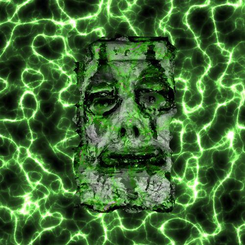 košmaras, veidas, elektrinis, elektra, baisu, freaky, kaukė, žmogaus veidas, kraujavimas, piktadarys, monstras, žalias, velnias, žiaurus, košmaras elektrinis vyras veidas
