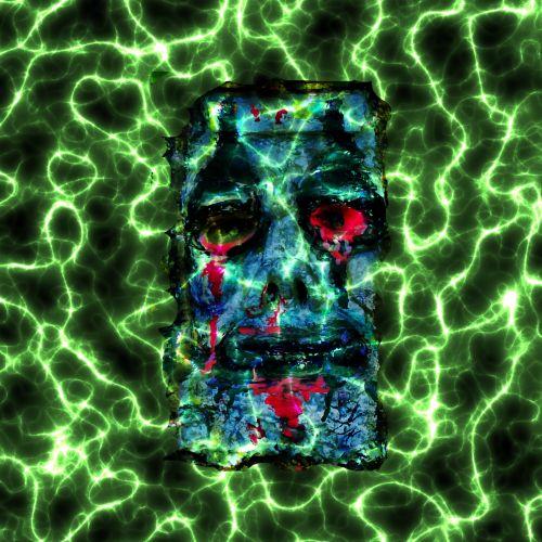 košmaras, veidas, elektrinis, elektra, baisu, freaky, kaukė, žmogaus veidas, kraujavimas, piktadarys, monstras, daugiaspalvis, košmaras elektrinis vyras veidas