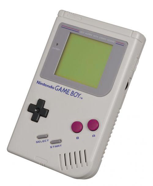 nintendo žaidimo berniukas,Žaidimų konsolė,nešiojamas,1989,žaidimo berniukas,žaisti,linksma,technologija,procesorius,LCD ekranas,elektronika