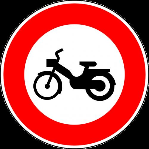 Nr mopedai,kelio zenklas,ženklas,reguliavimo ženklas,kelio ženklas,kelio ženklas,kelio ženklas,eismo ženklas,mopedas,raudona,draudimo ženklas,nemokama vektorinė grafika