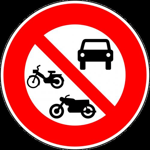 jokių variklinių transporto priemonių,ne motociklai,Nr mopedai,kelio zenklas,ženklas,reguliavimo ženklas,kelio ženklas,kelio ženklas,kelio ženklas,eismo ženklas,raudona,draudimo ženklas,nemokama vektorinė grafika