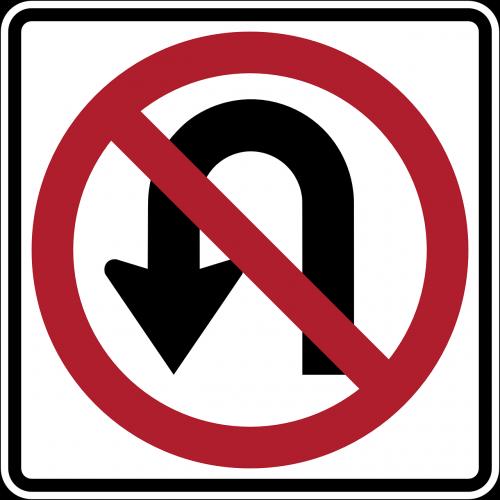 ne pasukti,tu pasukite,draudžiama,pasukti,draudžiama,įspėjimas,atsargiai,ženklas,simbolis,nemokama vektorinė grafika