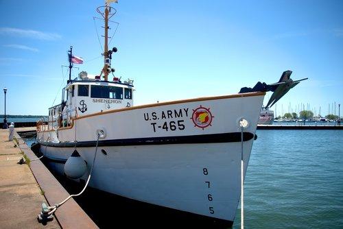 NOAA tyrimai valčių shenehon, tyrimai, laivas, shenehon, laivas, valtis, kariuomenė, vilkikas, transportas, Jūrų, Mokslas, jūra, ežeras, Lake Superior, Bayfield, Wisconsin, uostas, uostas, Pier, R prieš, didieji ežerai, aplinkos tyrimai, aplinkos, NOAA